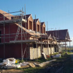 new roofing being installed on domestic property